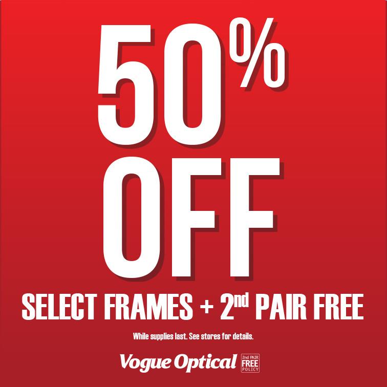 Vogue Optical Promotion